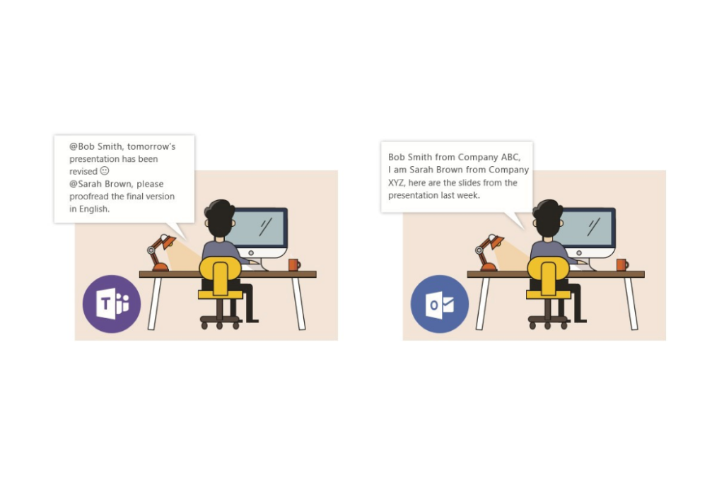 Microsoft Teams and Microsoft Outlook