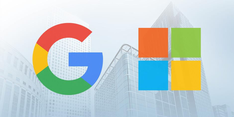 Google-Microsoft logo - Tech Patrol