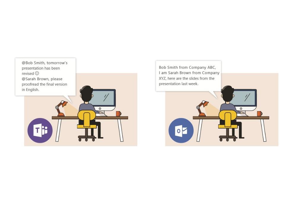 Microsoft Teams and Microsoft Outlook