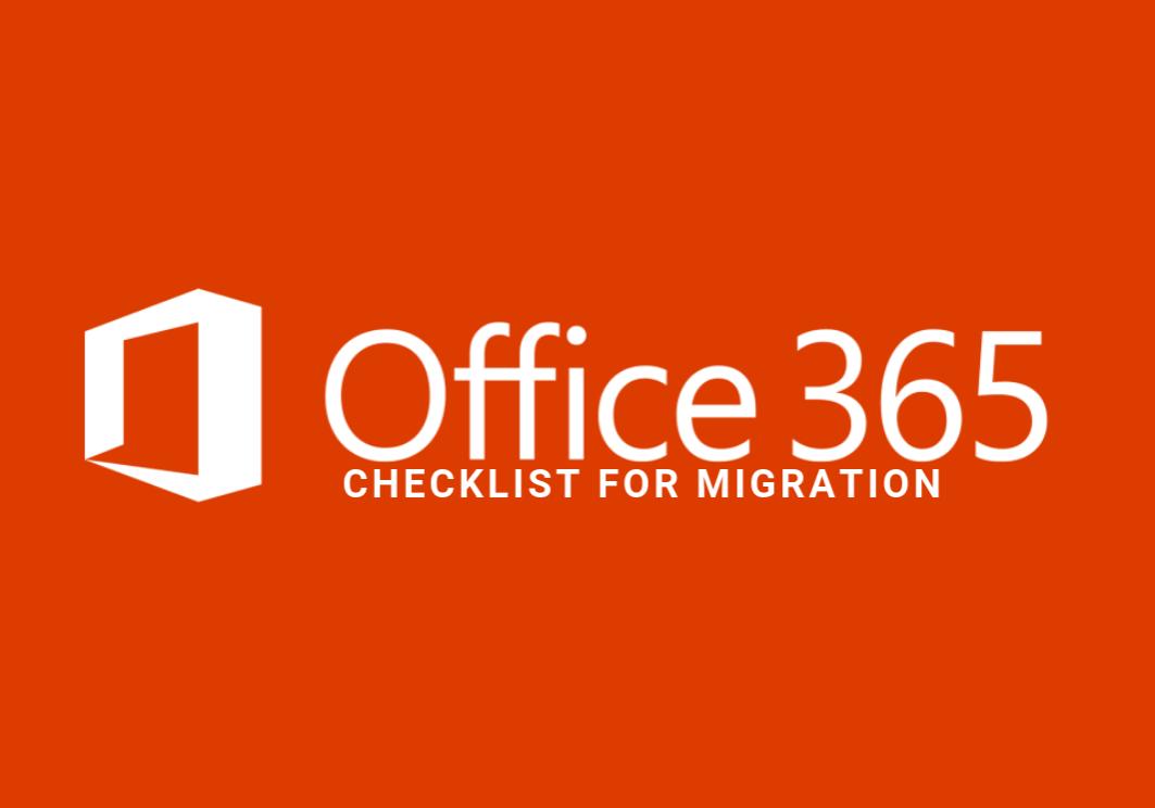 Checklist for O365Migration